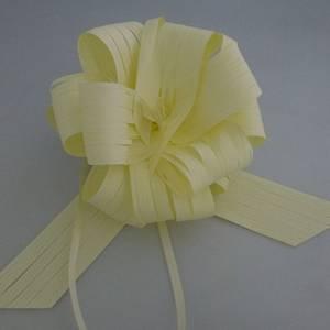 Lazos - Flor-Lazo Decoración Mod 27 RAFIA CREMA