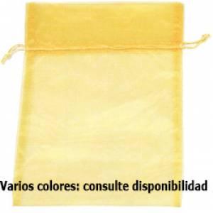 Otros modelos de Organza - Bolsa de organza Amarilla 35x45 capacidad 35x40 cm