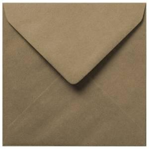 Sobres Cuadrados - Sobre Marrón Kraft textura Reciclado Cuadrado
