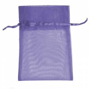 Imagen Tamaño 08x28 cms. Bolsa de organza Lila 8x28 capacidad 8x25 cms.