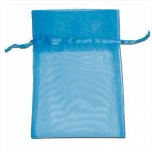 Imagen Tamaño 09x12 cms. Bolsa de organza Turquesa 9x12 capacidad 9x9 cms.