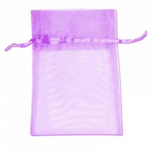 Imagen Tamaño 09x12 cms. Bolsa de organza lila 9x12 capacidad 9x9 cms.