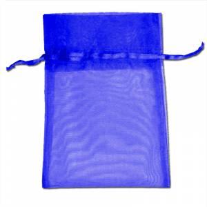 Imagen Tamaño 09x12 cms. Bolsa de organza marino 9x12 capacidad 9x9 cms.