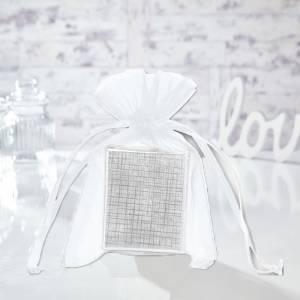 Tama�o 11x16 cms. - Bolsa de organza Blanca 11x16 capacidad 11x14 cms.