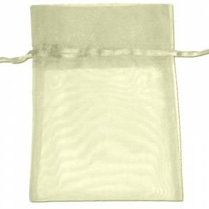 Tamaño 22x32 cms. - Bolsa de organza Crema o Beige 22x32 capacidad 21x30 cms.