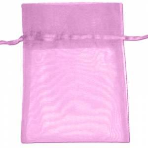 Tamaño 22x32 cms. - Bolsa de organza Rosa 22x32 capacidad 21x30 cms.